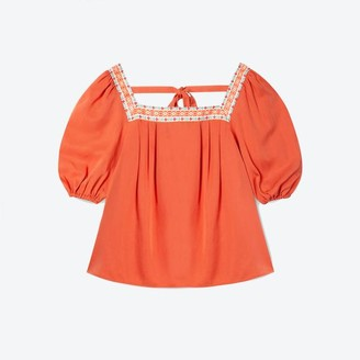Lowie Apricot Lyocell Ribbon Top - S