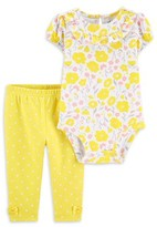 Carter's Child Of Mine By Child of Mine by Baby Girl Floral Bodysuit & Pant Outfit, 2pc Set