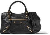 Balenciaga Classic City Mini Textured-leather Tote Bag - Black