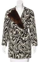 Dries Van Noten Wool Rabbit Fur-Accented Coat