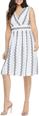 Maggy London Eyelet Fit & Flare Dress