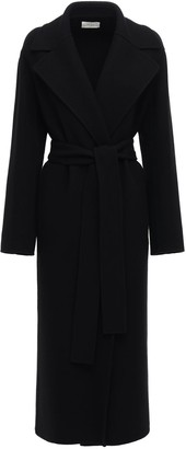 The Row Wool Blend Long Coat W/ Belt
