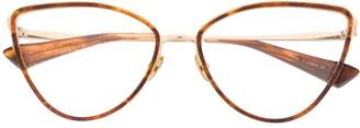 Christian Roth Sine-Type cat-eye glasses