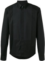 Les Hommes paneled shirt - men - Cotton/Spandex/Elastane - 46