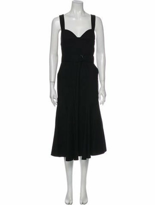 A.L.C. V-Neck Long Dress w/ Tags Black V-Neck Long Dress w/ Tags