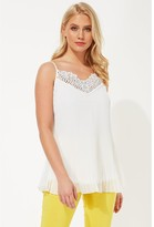 M&Co Roman Originals pleated lace trim cami top
