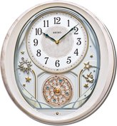 """Seiko QXM370P """"Melodies in Motion"""" Wall Clock, Plastic, Themed"""
