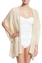 Flora Bella Baltic Embroidered Linen Kimono Coverup, Sand