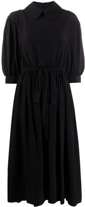 Simone Rocha Rounded-Collar Tied Waist Dress