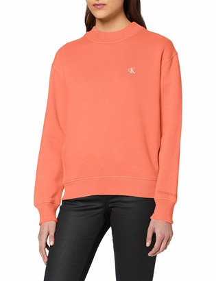 Calvin Klein Jeans Women's CK Embroidery Regular Crew Neck Sweater