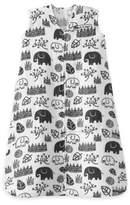 Halo SleepSack® Medium King Organic Cotton Muslin Wearable Blanket in White/Black
