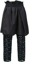 Kolor layered draped trousers - women - Wool - 2