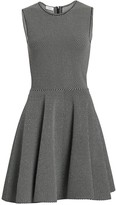 Akris Punto Geo Knit Fit-&-Flare Dress