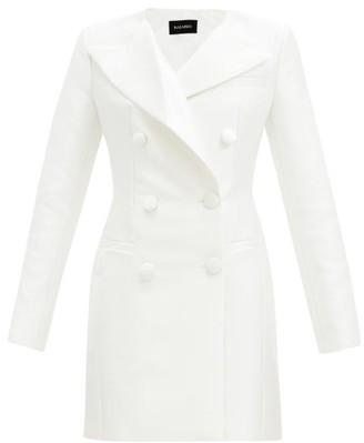 Rasario Double-breasted Satin Blazer Mini Dress - Ivory