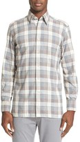 Canali Men's Plaid Flannel Sport Shirt