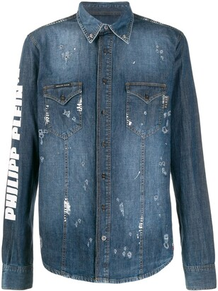 Philipp Plein button-down denim shirt