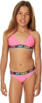 Rip Curl Kids Girls Geo Tri Bikini Pink