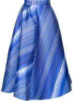 Vika Gazinskaya striped A-line skirt - women - Polyester/Silk - 40