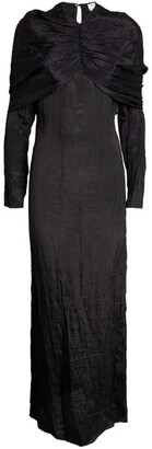 Deveaux Cape-Sleeved Emma Dress