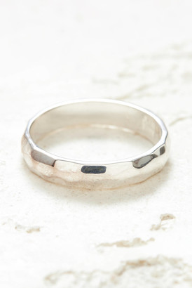 Anna Beck Silver Hammered Stacking Ring Silver 7