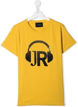 John Richmond Junior headphone print T-shirt