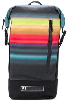 Paul Smith Striped Print Backpack