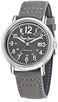 Pepe Jeans Steve Men's Quartz Watch with Grey Dial Analogue Display and Black Nylon Strap R2351108005