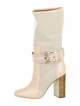 Malone Souliers X Roksanda Leather Trim Embellishment Boots