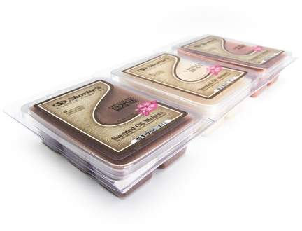 Shortie's Candle Company Bakery Highly Scented Wax Melts Variety Pack -  Chocolate Fudge Brownie, Vanilla Bean, Cinnamon Bark