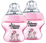 Tommee Tippee Closer to Nature 2pk 5oz Deco Baby Bottle Set - Pink Flower