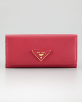 Prada Organizer Flap-Continental Wallet