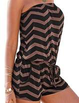 Sexyshine Women's Strapless Short Sexy Rompers Jumpsuits