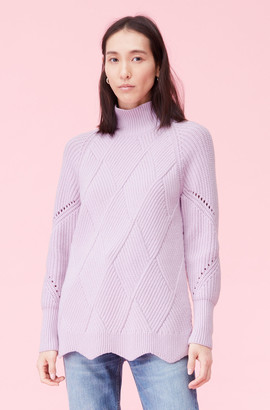 Rebecca Taylor Basketweave Turtleneck Pullover