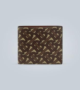 Burberry Monogram print e-canvas wallet