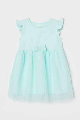H&M Dress with Tulle Skirt - Turquoise