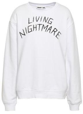 McQ Printed French Cotton-terry Sweatshirt