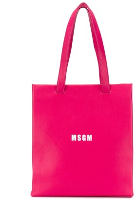 Msgm Kids Logo Print Shoulder Bag