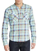 PRPS Liam Multicolored Plaid Cotton Sportshirt