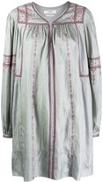 Etoile Isabel Marant cross-stitch embroidered dress