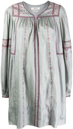 Etoile Isabel Marant Cross-Stitch Embroidered Dress