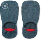 Mr. Gray - Mélange Stretch-knit No-show Socks - Storm blue
