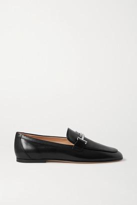 Tod's Embellished Leather Loafers - Black