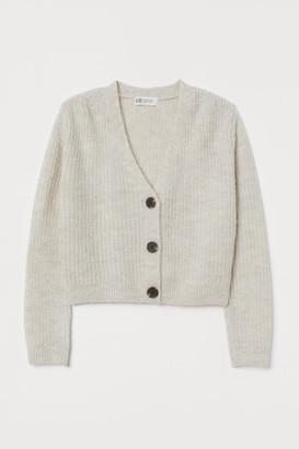 H&M Chunky-knit Cardigan - Beige