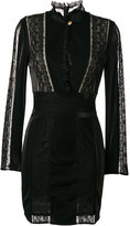 Pierre Balmain lace panel fitted dress