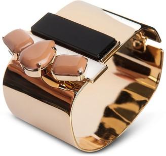 Arlequin Golden Brass Cuff w/Nude Crystals