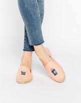 Soludos Jason Polan Coffee Espadrille Flat Shoes