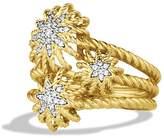 David Yurman Starburst Cluster Ring with Diamonds in Gold