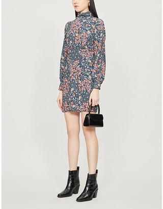 Selfridges Never Fully Dressed Bluebell floral-print crepe mini dress