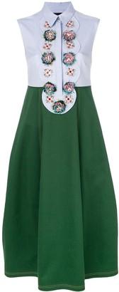 Talbot Runhof Embellished Two Tone Dress