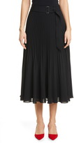 Club Monaco Split Pleat Belted Skirt